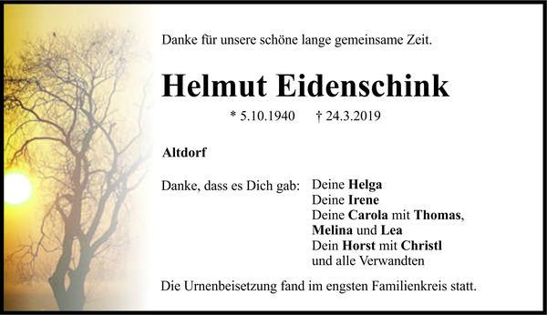 Helmut Eidenschink